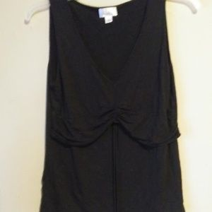 ANN TAYLOR LOFT SLEEVELESS SHIRT LARGE